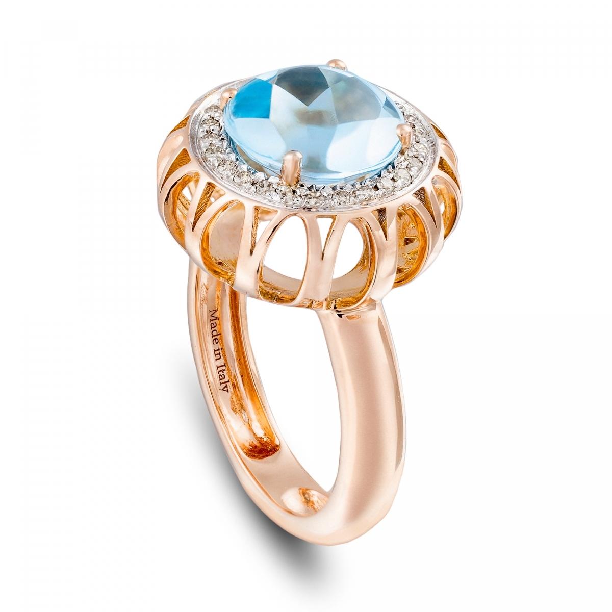 Matrimonio Oro E Azzurro : Anelli in oro rosa con diamanti topazio gt anello